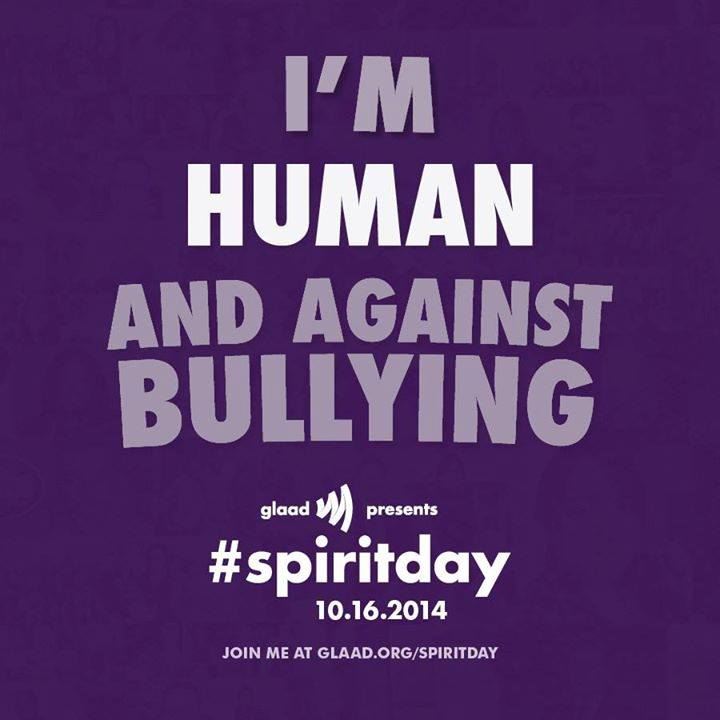 I'm human and against bullying